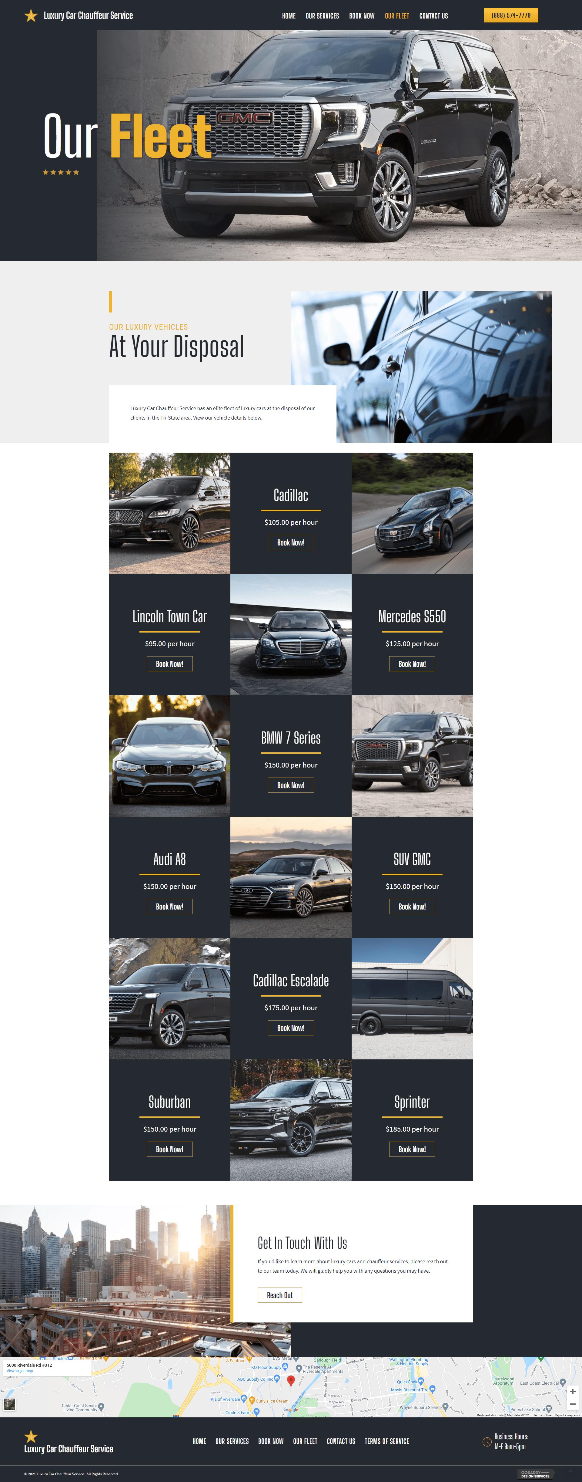 Luxury Car Chauffeur Service Fleet