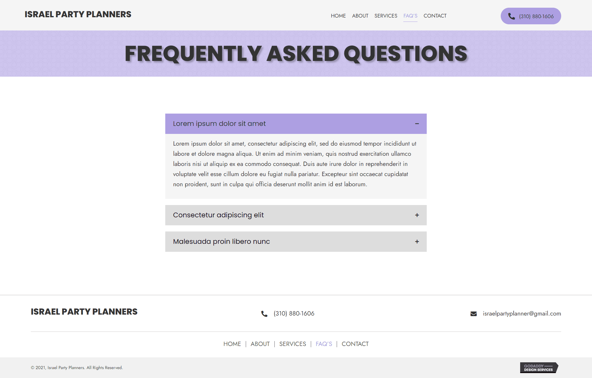 Israel Party Planners FAQ