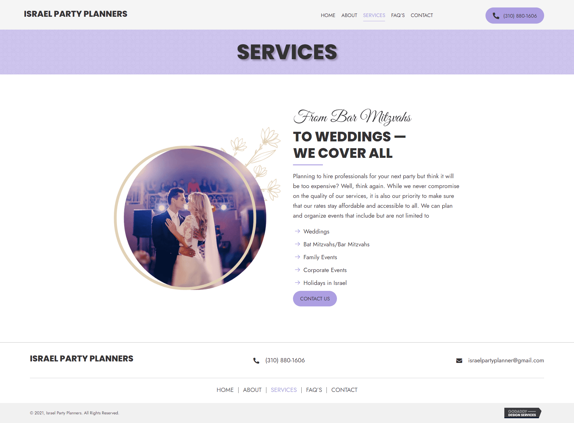 Israel Party Planners Services