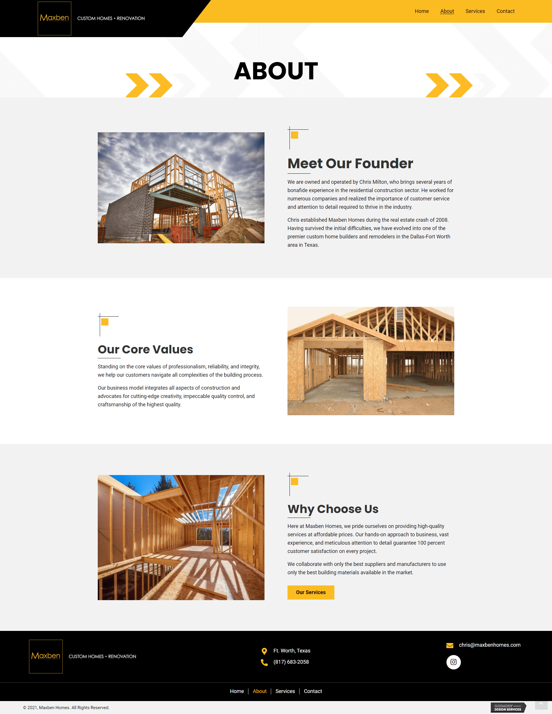 Maxben Homes About
