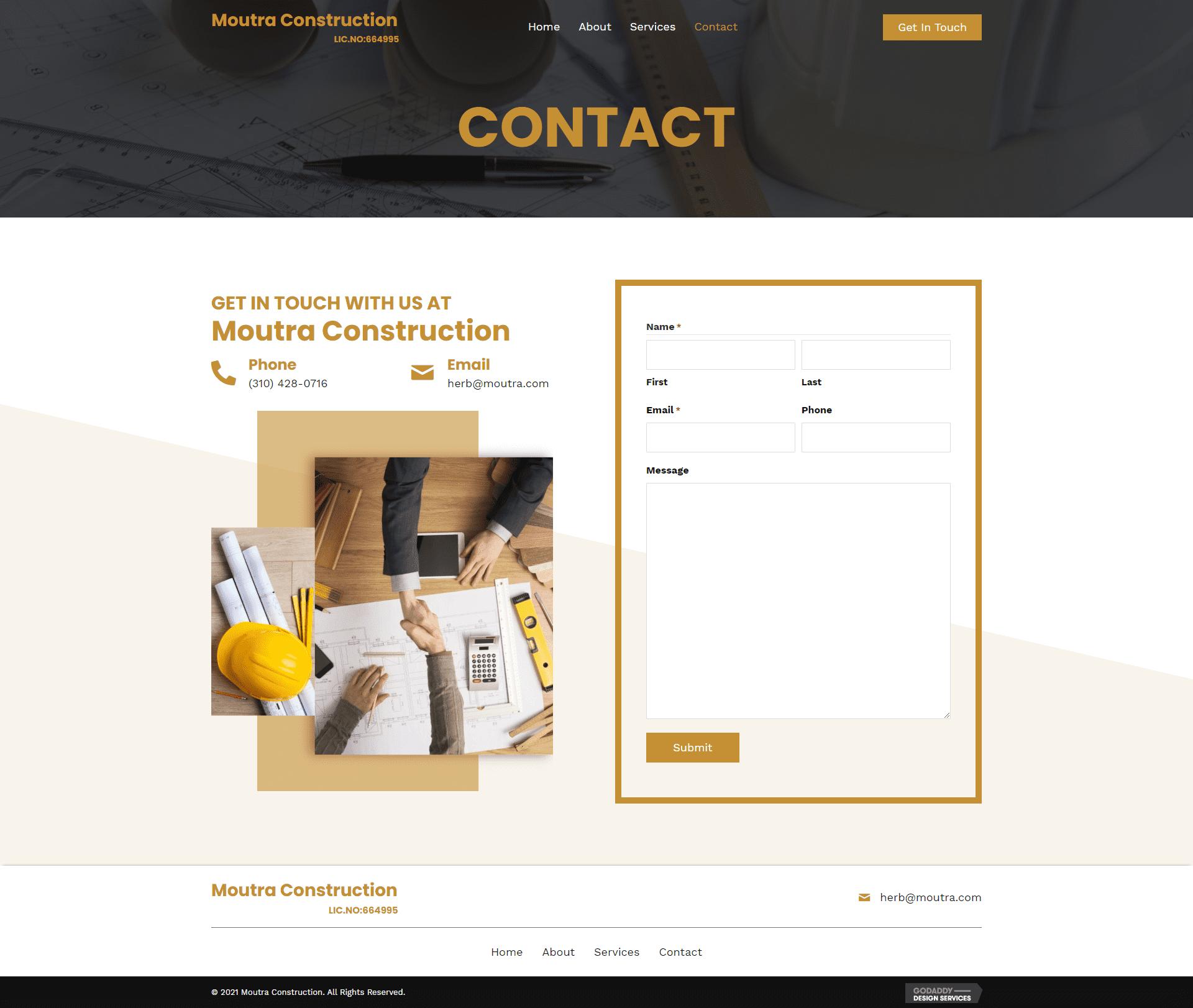 Moutra Construction Contact