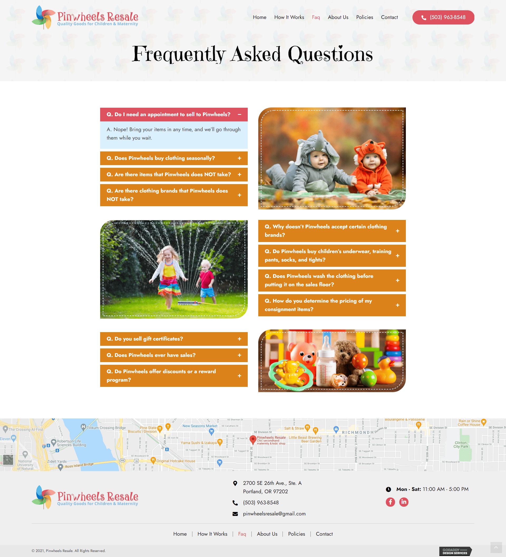 Pinwheels Resale FAQ