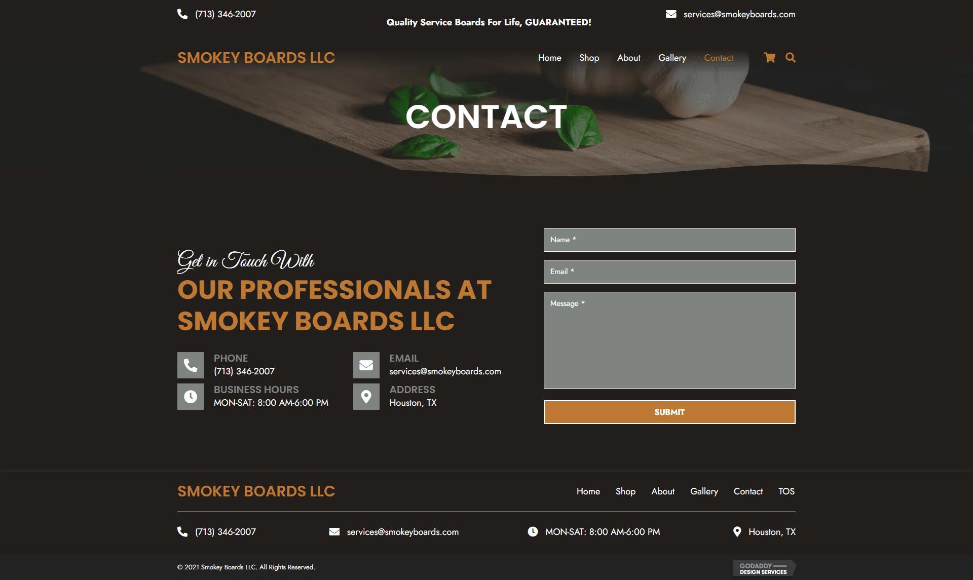 Smokey Boards LLC Contact