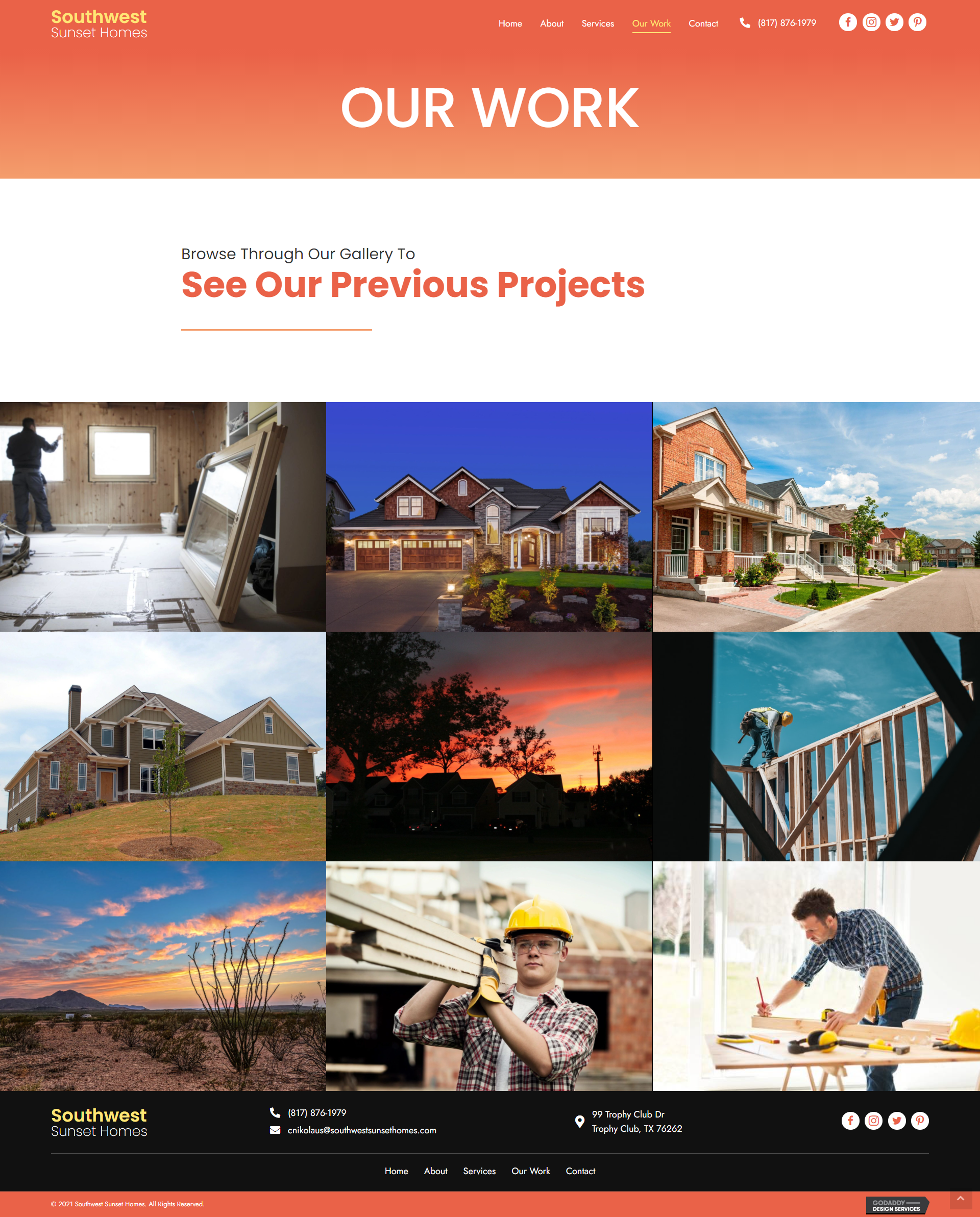 Southwest Sunset Homes Our Work