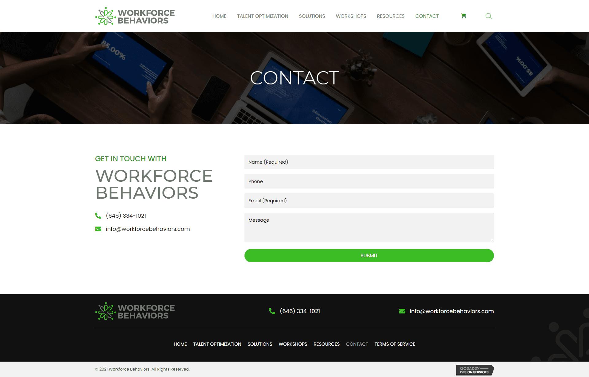 Workforce Behaviors Contact